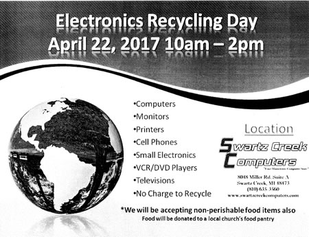 2017 electronics recycle day april22